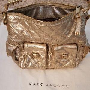 Gorgeous Marc Jacobs Metallic Gold Leather Handbag